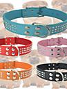 Chat / Chien Colliers Ajustable/Reglable Mosaique / Strass Rouge / Noir / Bleu / Incanardin / Orange Cuir PU