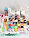 42pcs fichier clipper glitter pinceau a poudre acrylique ongles regle