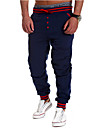 Bărbați Drept Pantaloni Chinos Pantaloni Activ Solid Casul/Zilnic Talie Medie Cordon Bumbac Micro-elastic All Seasons