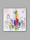 Peint a la main Abstrait / Paysage Peintures a l\'huile,Classique / Realisme Un Panneau Toile Peinture a l\'huile Hang-peint For Decoration