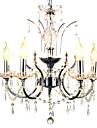 Lustre ,  Traditionnel/Classique Chrome Fonctionnalite for Cristal Metal Chambre a coucher Salle a manger Couloir