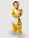 Kigurumi Pyjamas Tiger Trikå/Onesie Festival/högtid Pyjamas med djur halloween svart Gul Lappverk Flanell Kigurumi För Barn Halloween