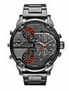 Bărbați Ceas Militar Ceas Elegant Ceas La Modă Ceas de Mână Quartz Calendar Zone Duale de Timp Punk Aliaj Bandă Vintage Cool Casual Luxos