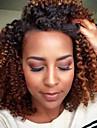 3 st / pack 300g lockigt människohår väver brasiliansk konsistens 10inch virka djupa lockigt mänskliga hårförlängningar