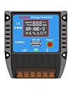 PWM 12/24V 20ALCD USB Compensation de temperature de la batterie automatique Controleur de regulateur de solaire Avec Protections completes