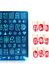 1pcs / lot noel serie ongle art estampage timbre moule en acier inoxydable