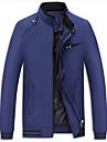 Bărbați Jachetă Casul/Zilnic / Plus Size Simplu(ă),Mată Manșon Lung Primăvară / Toamnă Stand-Albastru / Roșu / Negru / Maro Mediu