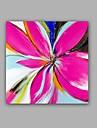 Peint a la main Abstrait / A fleurs/Botanique Peintures a l\'huile,Classique / Modern Un Panneau Toile Peinture a l\'huile Hang-peint For