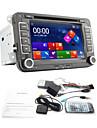 Lecteur DVD de Tableau de Bord pour Volkswagen, Ecran TFT 7 Pouces 2-DIN avec Bluetooth, Lecteur GPS de Navigation, RDS, Canbus, Entree iPod, TV