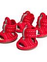 Chat / Chien Chaussures & Bottes Mignon Ete / Printemps/Automne Couleur Pleine Rouge / Jaune / Bleu / Incanardin Tissu