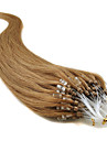 """20"""" brun dore (# 12) 100s boucle micro extensions de cheveux humains"""