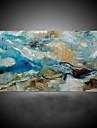 HANDMÅLAD Abstrakt / fantasi olje~~POS=TRUNC,Moderna / Medelhavet En panel Kanvas Hang målad oljemålning For Hem-dekoration