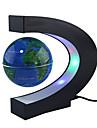 c form blå ledde världskarta dekor hemelektronik magnetisk levitation flytande klot antigravitation LED-ljus gåva dekoration