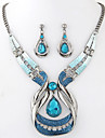 Set bijuterii Piatră Preţioasă Reșină Aliaj La modă Picătură Albastru Petrecere 1set 1 Colier 1 Pereche de Cercei Cadouri de nunta
