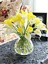 Une succursale Polyurethane Contact reel Calla Lily Fleur de Table Fleurs artificielles 32cm