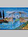 Pictat manual Faimos Peisaj Picturi de ulei,Clasic Tradițional Un Panou Canava Hang-pictate pictură în ulei For Pagina de decorare