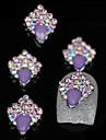 10pcs paillettes unique de pourpre bricolage accessoires en alliage nail art decoration