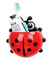 ladybug articles de toilette de porte-brosse a dents porte dentifrice salle de bain fixe contenant des crochets d\'aspiration dents de