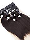 Human Hår vävar Brasilianskt hår Ret 12 månader hår väver