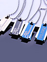 Cadeau personnalise-Dore Bleu Noir-Colliers decoratifs - enAcier inoxydable- pourUnisexe