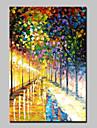 Pictat manual Abstract Peisaje Abstracte Picturi de ulei,Modern Un Panou Canava Hang-pictate pictură în ulei For Pagina de decorare