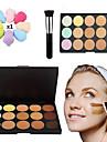 15 Correcteur/ContourHouppette/Eponge Pinceaux de Maquillage Humide VisageCouverture Correcteur Tonalite Inegale de la Peau Naturel