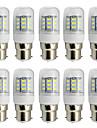 4W B22 LED-lampa T 27 SMD 5730 280 lm Varmvit Kallvit Dekorativ AC 85-265 V 10 st