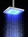 Contemporan Duș Ploaie Crom Caracteristică for  LED Ploaie Ecologic , Cap de dus