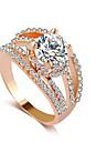 Inel Ștras Aliaj Ștras imitație de diamant Auriu Argintiu Bijuterii Nuntă Petrecere 1 buc