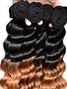 """3pcs / lot 12 """"-26"""" couleur de cheveux vierges bresilienne 1b30 tissus de cheveux humains a vague lache"""