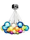 1.5 Hängande lampor ,  Modern Traditionell/Klassisk Glob Elektropläterad Särdrag for Flush Mount Lights GlasSovrum Dining Room Matsalsrum