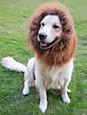 Chat / Chien Costume / Perruque Noir / Blanc / Marron Vetements pour Chien Ete / Printemps/Automne Animal Cosplay / Lion