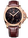 Bărbați Ceas Sport Ceas Militar Ceas Elegant Ceas La Modă Ceas de Mână Calendar Quartz Piele Autentică Bandă Vintage Casual Argint