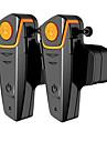 2pcs moto impermeable moto interphonie casque avec fm radio casque casque pour les pilotes sans fil Bluetooth casque intercom