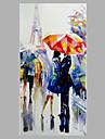 Pictat manual Oameni Peisaje Abstracte Picturi de ulei,Modern Stil European Un Panou Canava Hang-pictate pictură în ulei For Pagina de