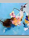 HANDMÅLAD Abstrakt fantasi olje~~POS=TRUNC,Moderna Europeisk Stil En panel Kanvas Hang målad oljemålning For Hem-dekoration
