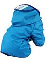 Chien Impermeable Rouge Orange Vert Bleu Incanardin Vetements pour Chien Ete Printemps/Automne Couleur Pleine Etanche