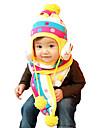 Fete Băieți Seturi de Eșarfe, Căciuli & Băști-Iarnă Îmbrăcăminte tricotată Roșu Galben