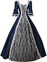 Une Piece/Robes Gothique Lolita Classique/Traditionnelle Retro Elegant Victorien Rococo Princesse Cosplay Vetrements Lolita Couleur Pleine