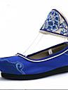 Dame Pantofi Flați Primăvară Vară Toamnă Confortabili Pânză Outdoor Casual Atletic Rochie Toc Plat Flori Albastru Verde Violet Plimbare