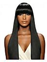 indien cheveux vierges naturelle dentelle couleur noire humaine remy perruque avant droite avec une frange