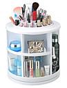 Sminkförvaring Makeup-låda / Sminkförvaring Plastic Enfärgat Rund 26*26*27CM Röd / Orange / Ivory