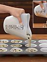 formă de inimă măsurare silicon ceașcă tort aluat cu dozator de măsurare etichetă