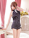 Feminin Ultra Sexy / Uniforme & Cheongsams Pijamale Polyester Jacquard Alb / Negru