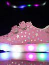 Flickor Sneakers Vår Sommar Höst Första gåsko Läder Utomhus Fritid Låg klack LED Svart Rosa Vit Promenad