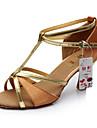 Chaussures de danse(Noir / Marron / Rouge / Or) -Personnalisables-Talon Personnalise-Satin / Similicuir-Latine