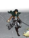 Anime Actionfigurer Inspirerad av Attack on Titan Mikasa Ackermann PVC 14 CM Modell Leksaker Dockleksak