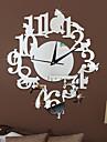 Moderne/Contemporain Decontracte Autres Fleurs / Botaniques Personnages Musique Horloge murale,Nouveaute Acrylique Interieur/Exterieur