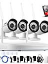 annke 4ch CCTV Trådlös 960p NVR 4st 1.3MP ir p2p wifi kamera