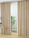 Två paneler Fönster Behandling Modern , Geometrisk Sovrum Polyester/Bomull Blandning Material gardiner draperier Hem-dekoration For